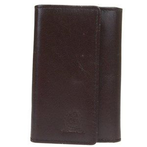 Christian Dior Undefined Leather Key Case Brown